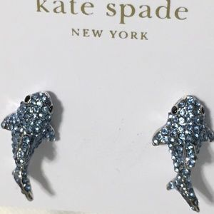 Kate Spade Cali Dreaming Shark Pave Earrings